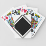 Clean Silver Metallic Edge Border Bicycle Playing Cards