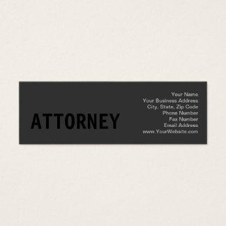 Clean Simple Black Out Business Card