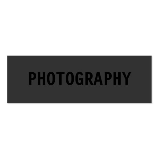 Clean Simple Black Out Photographer Business Card