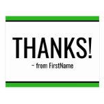 """[ Thumbnail: Clean, Simple """"Thanks!"""" Postcard ]"""