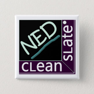 cLean sLate NED square Button Pin
