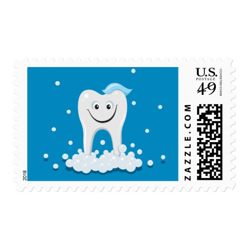 Clean smiling tooth stamps