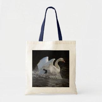 Clean Swan Tote Bags