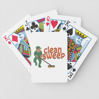 Clean Sweep Bicycle Playing Cards