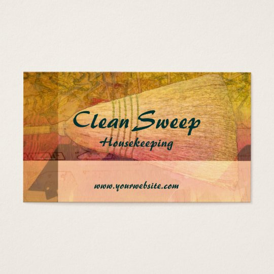 Clean Sweep Housekeeping Business Card