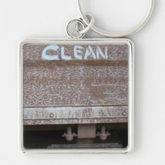 Clean 'Tailgate Talk' Keychain