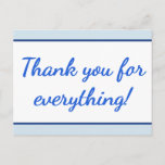 """[ Thumbnail: Clean """"Thank You For Everything!"""" Postcard ]"""