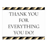 """[ Thumbnail: Clean """"Thank You For Everything You Do!"""" Postcard ]"""