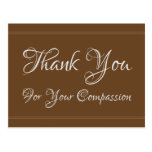 """[ Thumbnail: Clean """"Thank You For Your Compassion"""" Postcard ]"""