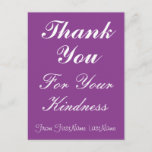"""[ Thumbnail: Clean """"Thank You For Your Kindness"""" Postcard ]"""