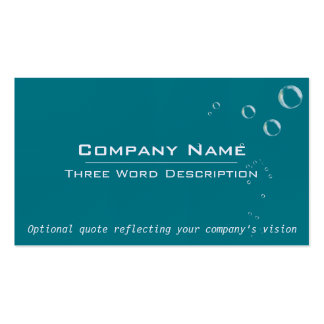Clean Tropical Bubbles Business Card