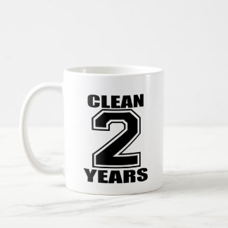 clean two years black coffee mug