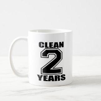 clean two years black coffee mug