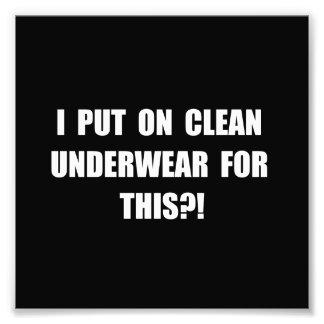 Clean Underwear Photo Print