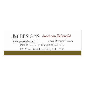 Clean Unique Plain Modern Double-Sided Mini Business Cards (Pack Of 20)