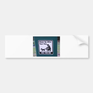Clean Up after your dog! Bumper Sticker