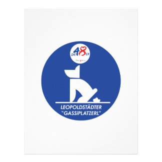 Clean up after Your Dog, Sign, Austria Letterhead Template