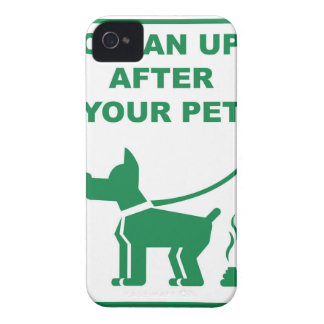 Clean Up After Your Pet Sign Case-Mate iPhone 4 Case