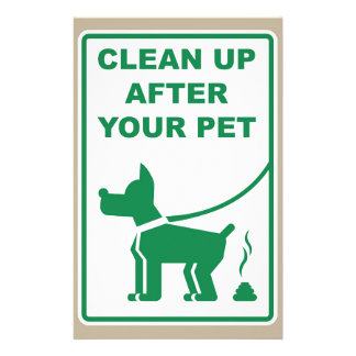 Clean Up After Your Pet Sign Stationery