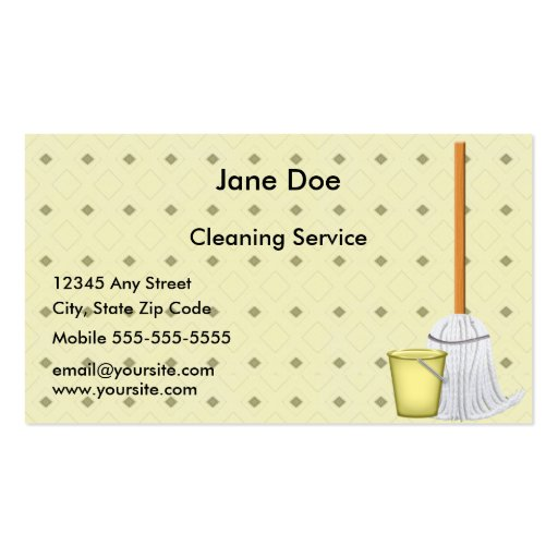 Clean Up Business Card