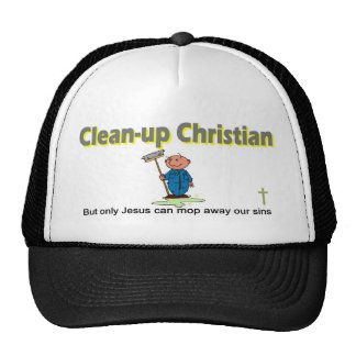 Clean-up Christian janitor design Hats