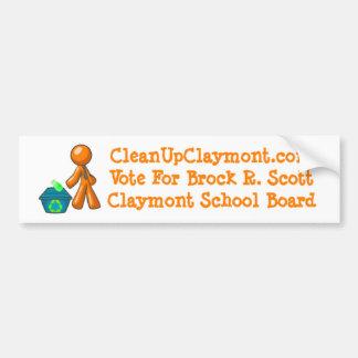 Clean Up Claymont - Bumper Sticker