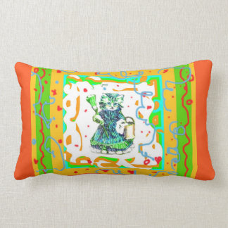 CLEAN UP KITTY- CHILDRENS ROOM PILLOW