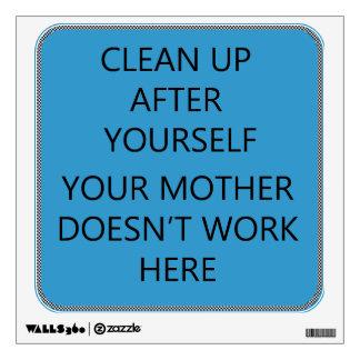 Clean Up Room Decals