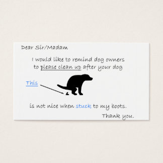 Clean Up Your Dog Mess Business Card