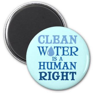 Clean Water 2 Inch Round Magnet
