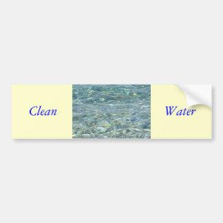 Clean Water Bumper Sticker