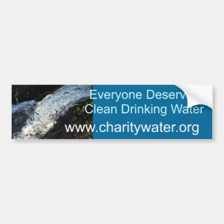Clean Water bumper sticker