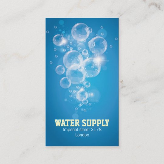 Clean water business card zazzle clean water business card colourmoves