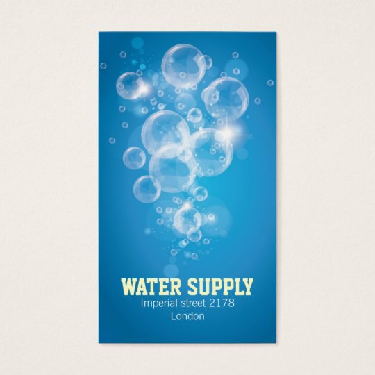 Clean water business card zazzle clean water business card colourmoves Choice Image