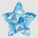 Clean Water Drops Call Out No Hydro-Fracking! Star Stickers