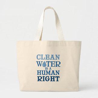 Clean Water Large Tote Bag