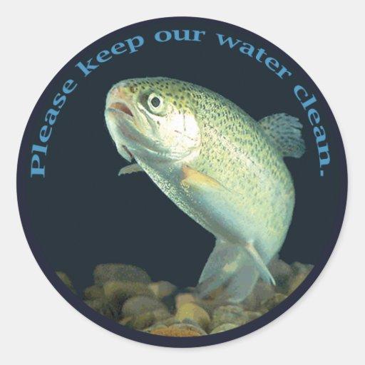 Clean Water Round Sticker