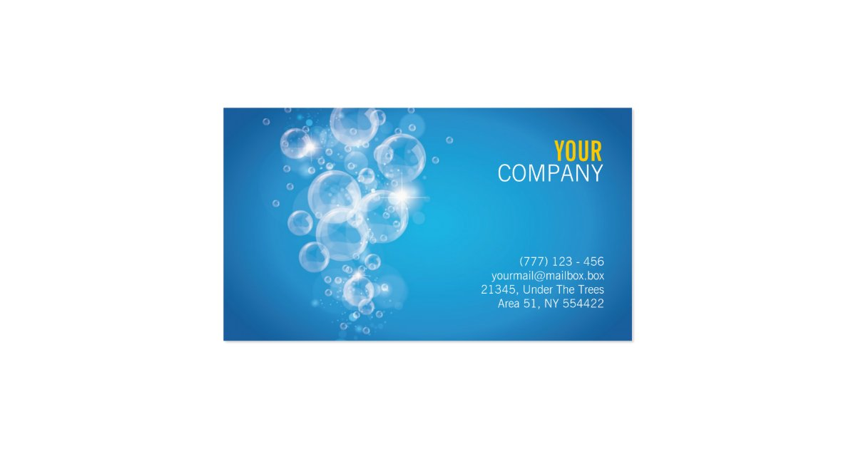 Clean water success business card zazzle for Successful business cards