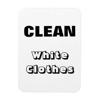 Clean - White Clothes Rectangular Photo Magnet