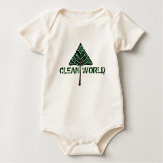 clean world onsie baby bodysuit