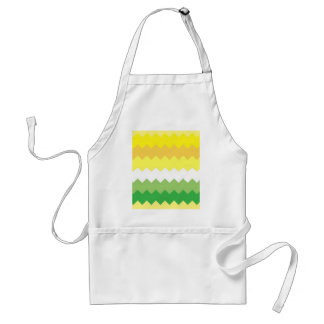Clean Yellow and Green Chevron Adult Apron