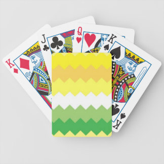 Clean Yellow and Green Chevron Bicycle Playing Cards