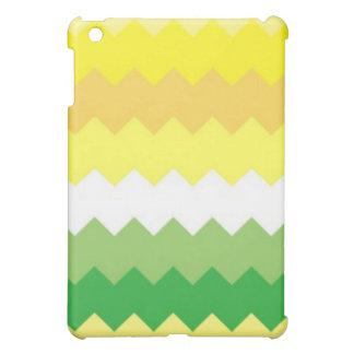 Clean Yellow and Green Chevron iPad Mini Covers