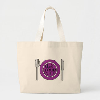 Clean Your Plate Canvas Bag