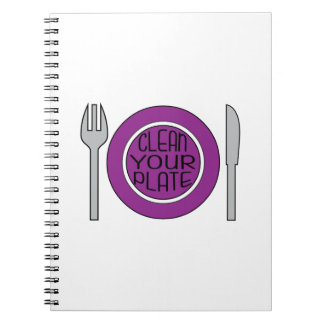 Clean Your Plate Note Book