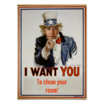 """""""clean your room""""  Poster"""