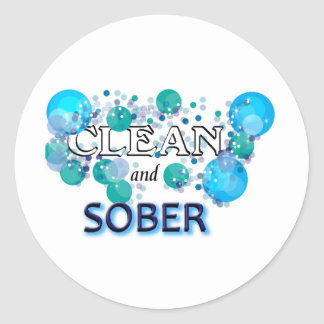 CleanandSOBER jpg Sticker