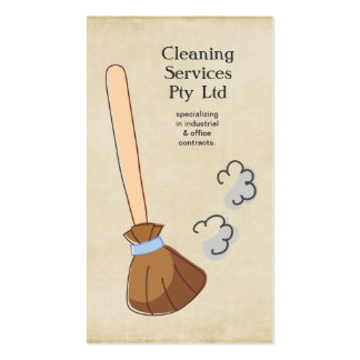 Cleaner Cleaning Service Business Profile Card Business Cards