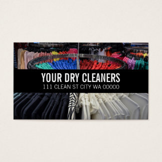 Cleaners Dry Cleaning Business Card Template