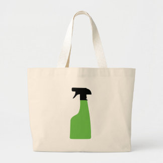 cleaning aerosol can green canvas bag